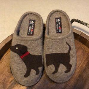 NEW Haflinger Wool Slippers Dog 38 7.5 - 8